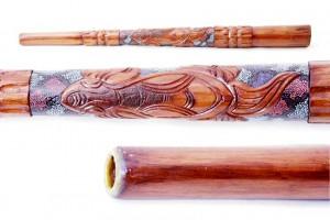 Didgeridoo mit Bienenwachs-Mundstück