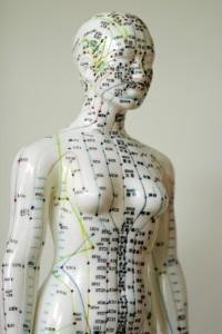 Meridiane verbinden die Chakren des Körpers